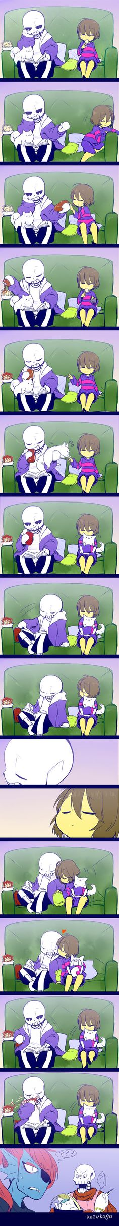 sansxfrisk by kuzukago | They don't need to talk to understand each other