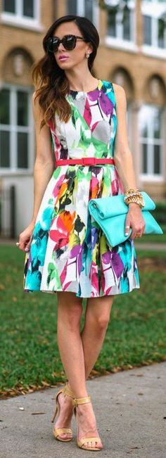 Spring Printed Inspiration Dress by Sequins & Things