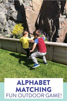 Kindergarten or preschool students race to match the uppercase and lowercase letters in this fun, relay game! Head over to the post to see how to play.