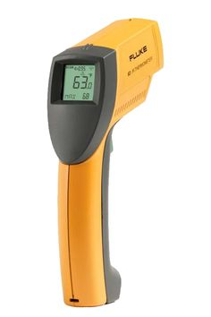 Fluke 63 mini IR thermometer delivers accurate readings of temperatures ranging from -40°C to 535°C. Enhanced optics help you measure smaller objects further away