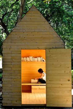 reading cabin - THIS IS A THING?! I NEED ONE. mediation/reading/yoga shed :)