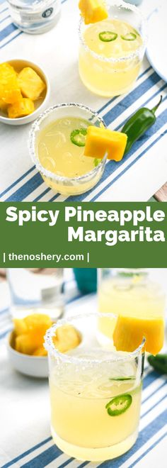 Spicy Pineapple Margarita   A refreshing and spicy tropical twist on the much loved margarita