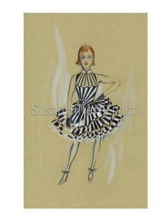 Susan Hilfery artwork, Ozdust ballroom outfit Slender Girl, Wicked Costumes, Ballroom Costumes, Costume Design, Art Forms, All Art, Illustration, Artwork, Theatre