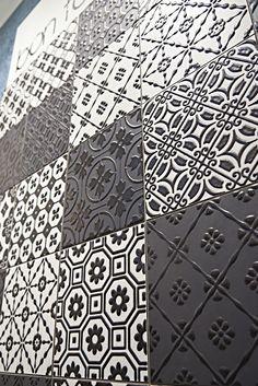 Pavimento/rivestimento in gres porcellanato BON TON BLACK by Unica by Target studio