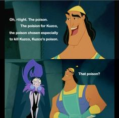 the poison for kuzco - Google Search