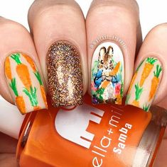 I've gathered some of the cutest Easter nail ideas for you to try out. Easter nail designs that are festive and bright. Easter Nail Designs, Easter Nail Art, Nail Art Designs, Namjin, Gel Nails, Nail Polish, Nail Nail, Bunny Nails, Christmas Manicure