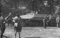Captured Sd.Kfz. 251 that was used by Polish forces - Huge Collection Of The Warsaw Uprising Photos 18  Page 2 of 3  Best of Web Shrine
