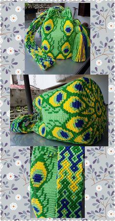 Handmade mochila wayuu crochetbag diy and crafts вязание крю Tapestry Crochet Patterns, Crochet Purse Patterns, Beading Patterns Free, Crochet Purses, Crotchet Bags, Knitted Bags, Crochet Home, Cute Crochet, Mochila Crochet