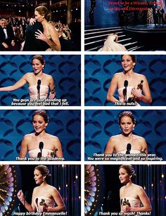 """You guys are just standing up because you feel bad that I fell"" LOL, Jennifer Lawrence the Authentic"
