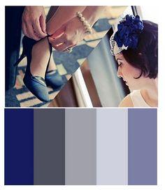 shades of blues and greys