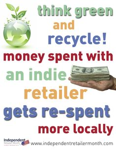 Lifestyle, Eco and Main Street independent retailers - shop local and make a difference during Independent Retailer Month!