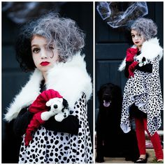 Cruella DeVille DIY kids costume. I made this for my daughter and it was so fun and easy!