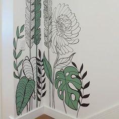Wall Painting Decor, Mural Wall Art, Diy Wall Art, Graffiti Murals, Bedroom Murals, Wall Drawing, Wall Design, Diy Design, Baby Decor