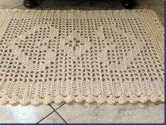 Artesanato Casa e Dicas: Tapete de Crochê em Barbante
