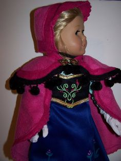 Anna cape set for American girl doll by ritassewing on Etsy