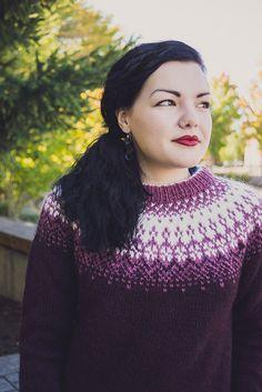Ravelry: Særós pattern by G. Fair Isle Knitting Patterns, Fair Isle Pattern, Sweater Knitting Patterns, Knitting Designs, Knit Patterns, Icelandic Sweaters, Fall Sweaters, Sweaters Knitted, Knit In The Round