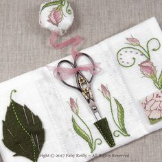 <b>Lizzie Stitching Wallet</b><br>cross stitch pattern<br>by <b>Faby Reilly Designs</b> Needle Book, Needle Case, Embroidery Stitches, Embroidery Patterns, Modern Embroidery, Tatting Patterns, Hand Embroidery, Cross Stitch Designs, Cross Stitch Patterns