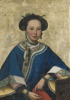 Lot | Sotheby's. A PORTRAIT OF A BEAUTY QING DYNASTY, 19TH CENTURY. Height 27 in., 68.6 cm; Width 19 1/2  in., 49.5 cm Estimation 200,000 — 300,000 USD.