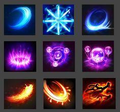 Game Design and concept art schools to make indie game Game Gui, Game Icon, Game Ui Design, Icon Design, Game Effect, 2d Game Art, Action Cards, Hand Painted Textures, Game Props