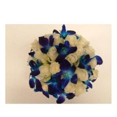Blue bridal bouquet - these orchids are my favourite