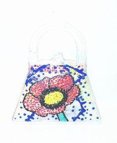 Poppy Flower Purse Favor / Gift Box by DoodlelyDoo on Etsy