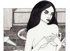 A ilustradora Laura Callaghan gosta de pensar que as mulheres que faz são fortes e que não têm medo da solidão.