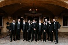 What handsome fellas on this February wedding day! They wore black tuxes with gray vests and black ties. Well done gents! | Villa Siena | Kylee Patterson Photography | #Villasiena #weddingvenue #gilbertarizona #arizonaweddings #arizonaweddingvenue #groom #groomsmen #blacktuxes #blacktux #gray #weddingdaylook #weddingdayattire #tux #suit Black Ties, Wedding Venues, Wedding Day, February Wedding, Grey Vest, Groom And Groomsmen, Siena, Wearing Black, Vests