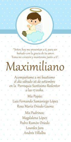 Invitaciones De Presentacion 3 Años Bautizo