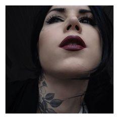 goth girl lipstick