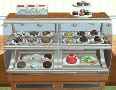 Decorative items all of the food available from the toy oven in TS3 and ambitions (don't ask me which are which.) Some have been resized. Download