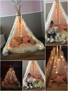TIPI'S TIPI'S Image by Stefanie Kneuer There are several factors uncommon of the room to remain in that several of. Baby Bedroom, Baby Room Decor, Room Decor Bedroom, Girls Bedroom, Girl Rooms, Kids Tents, Kids Tee Pee, Diy Teepee Tent, Stylish Kids