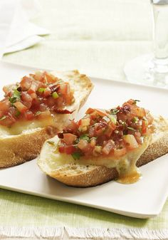 Grilled Salsa Melts -- This delicious appetizer recipe pairs perfectly with warm weather. Plus, it's ready to serve in just 20 minutes time!