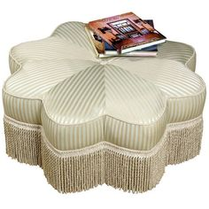 Scully Star of India Ottoman Striped Fabric ($1,550) ❤ liked on Polyvore