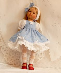 Dorothy dress and pinafore made for KnC Louisa by SewSweetDolly