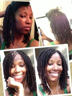 loose two strand twists - natural hair