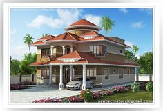 Indian home design,Creative Exterior Design, Attractive Home Designs, Images for bungalow design, Beautiful Villa designs