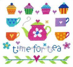 Buy Time for Tea Sampler Cross Stitch Kit Online at www.sewandso.co.uk