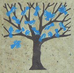 Blue Bird Lino Cut Print £14.00