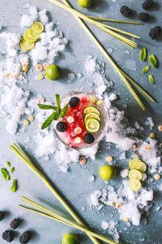 Lemongrass, Coconut, and Blackberry Cocktail | @HonestlyYUM | honestlyyum.com