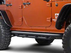 Rugged Ridge Textured Black Wrangler Side Armor Nerf Bars 11504.20 (07-17 Wrangler JK 4 Door) - Free Shipping