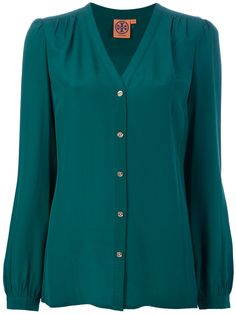 Tory Burch silk blouse. I love this color.