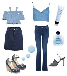"""Denim"" by explorer-14087803545 on Polyvore featuring мода, SJYP, Oasis, L.K.Bennett, Jimmy Choo, Giorgio Armani, Topshop и Givenchy"