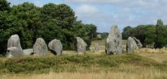 Carnac, France: There are more than 3,000 prehistoric standing stones (menhirs) erected by the pre-Celtic people of Brittany. These are the largest such collection in the world The stones were during the Neolithic period, probably around 3300 BC, but some may date to as old as 4500 BC.