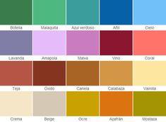 Carta de colores fachadas coloniales #diseñosdecasascoloniales