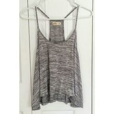 Hollister Heathers Gray Tank Top Only worn once! Nice and flowy, super cute with high waisted shorts. Hollister Tops Tank Tops