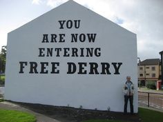 Londonderry, Northern Ireland - city of culture... look at conflicts? link to peninsular bicentery?