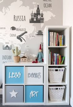 Make gorgeous custom furniture easily with 18 super creative IKEA hacks: dressers, cabinets, benches Boys Bedroom Decor, Kids Bedroom Furniture, Diy Bedroom, Custom Furniture, Furniture Ideas, Baby Room Design, Toddler Rooms, Toy Rooms, Girl Room