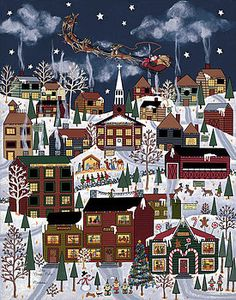 Christmas Paintings - The North Pole by Medana Gabbard Christmas Scenes, Christmas Past, Vintage Christmas, Christmas Jigsaw Puzzles, Polo Norte, Photo Images, Christmas Paintings, Arte Popular, Winter Art