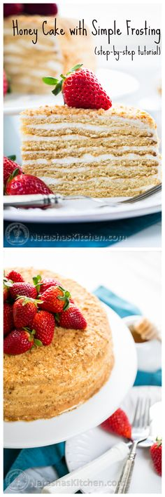 Master the famous honey cake at home with this photo tutorial. This one's a little easier than most honey cakes! ;) @natashaskitchen