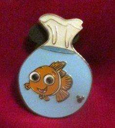 RARE Disney Pin Cast Lanyard Series Trading Pin Disney Goldfish in Bowl
